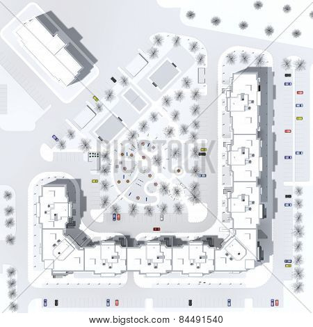 architectural master plan of a building