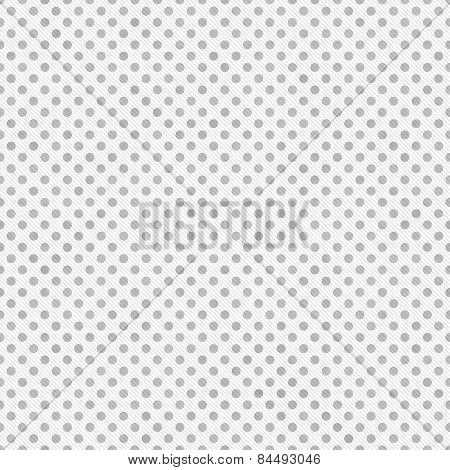 Light Gray And White Small Polka Dots Pattern Repeat Background