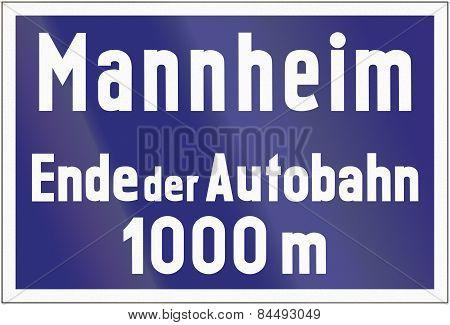 Ende Der Autobahn Mannheim