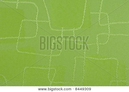 textured green fabric