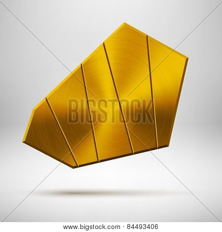 Gold Abstract Geometric Button Template