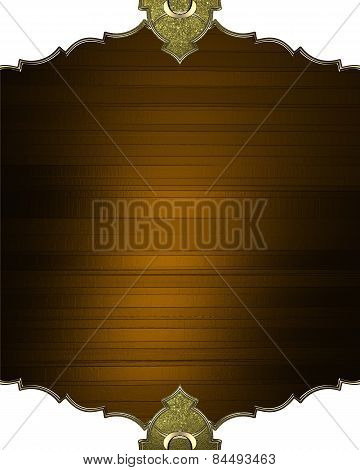 Brown Plaque With An Antique Frame. Design Template. Design Site