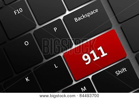 Computer Keyboard With Emergency Number 911