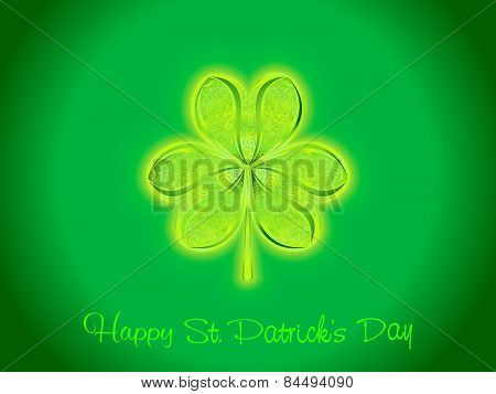 Abstract Artistic St Patrick Clover