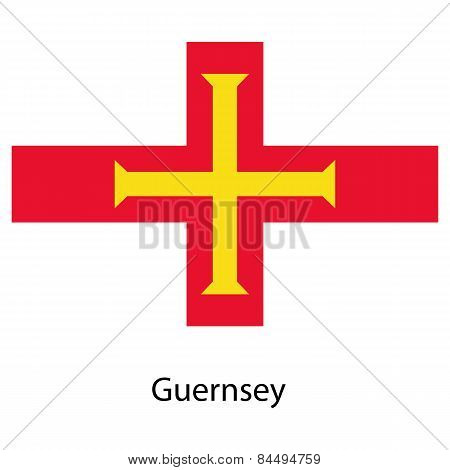 Flag  Of The Country  Guernsey. Vector Illustration.