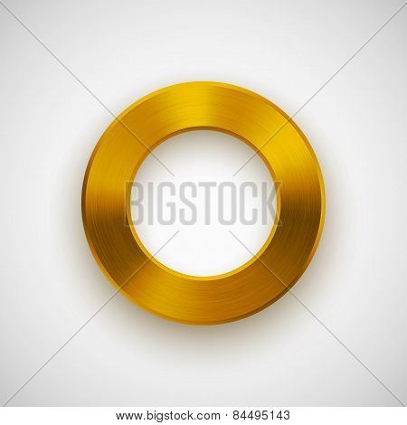 Gold Abstract Donut Button Template