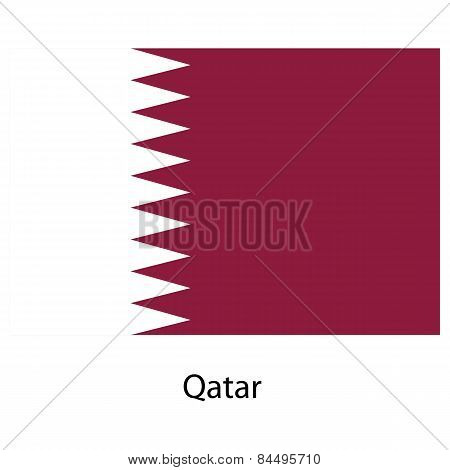 Flag  Of The Country  Qatar. Vector Illustration.