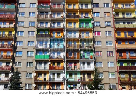 Block Of Flats In Poland