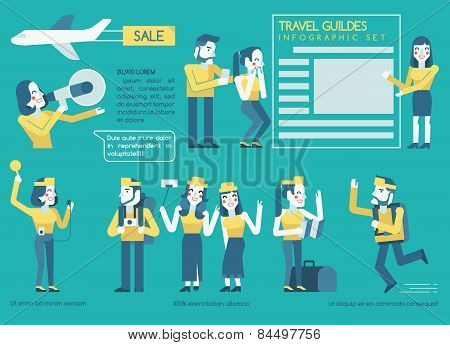 Travel guides Infographics set