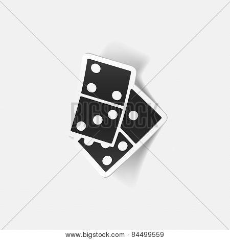 realistic design element. domino