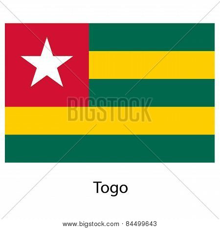 Flag  Of The Country  Togo. Vector Illustration.