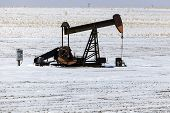 foto of kansas  - Oil well pump winter time - JPG