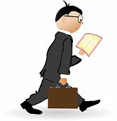 picture of cartoon people  - A vector illustration of a person reading a book - JPG