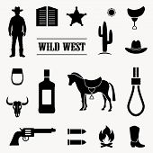 foto of wild west  - wild west vector background - JPG