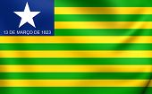 image of bandeiras  - 3D Flag of Piaui - JPG