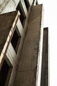 picture of orifice  - Concrete wall with window openings of the unfinished building - JPG