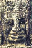 stock photo of stone sculpture  - Stone murals and sculptures in Angkor wat Cambodia - JPG