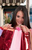 pic of racial diversity  - Beautiful multi ethnic diverse woman on a shopping spree - JPG