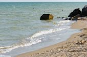 picture of azov  - Edge of the bank of the sea of Azov - JPG