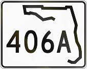 stock photo of state shapes  - US state highway shield Florida - JPG