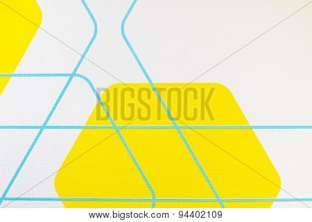Regular Geometric Fabric Texture Yellow And White Background, Cloth Pattern