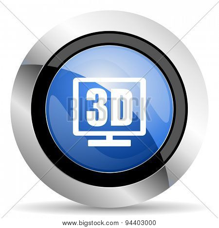 3d display icon  original modern design for web and mobile app on white background