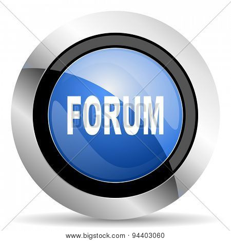 forum icon  original modern design for web and mobile app on white background