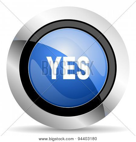 yes icon  original modern design for web and mobile app on white background