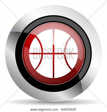 ball red glossy web icon original modern metallic and chrome design for web and mobile app on white background