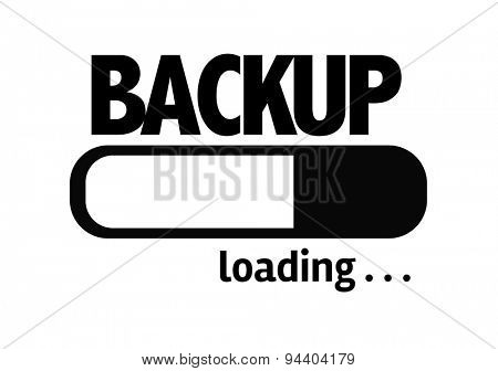 Progress Bar Loading with the text: Backup