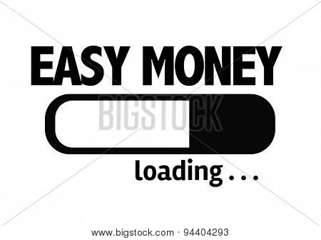 Progress Bar Loading with the text: Easy Money