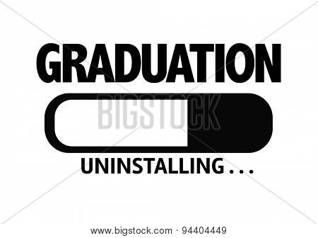 Progress Bar Uninstalling with the text: Graduation