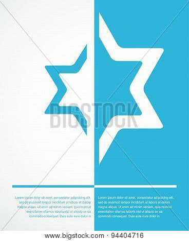 poster of jewish sign of david star with place for text