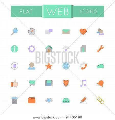Vector Flat Web Icons