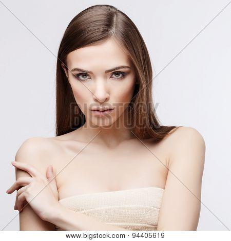 Beautiful Woman with Clean Fresh Skin