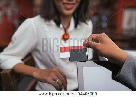 Using credit card reader
