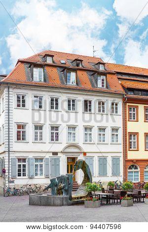 HEIDELBERG, GERMANY - MAY 28, 2015: The historic area of the old city Heidelberg.