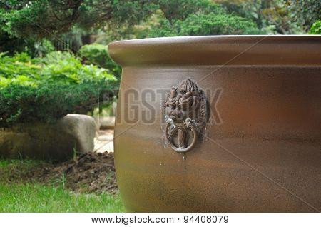 Brown Ceramic Pot