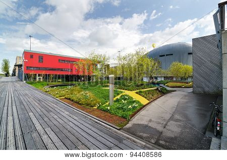Almere, Netherlands - May 5, 2015: Modern City Center Of Almere, Flevoland