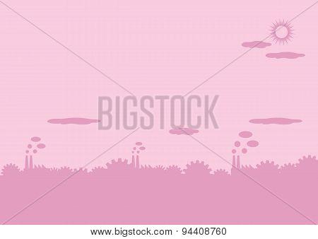 Industrial Landscape Vector Background