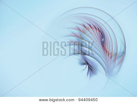 Fractal Flame Abstract Feather Background