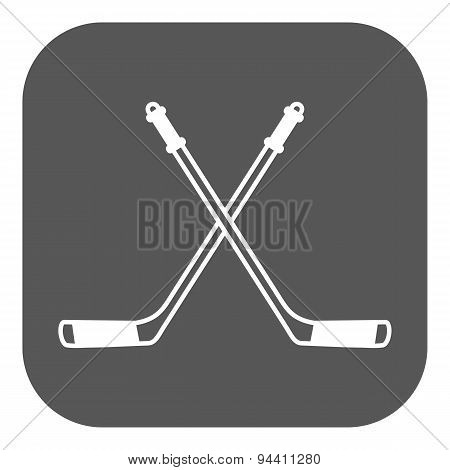 Hockey Icon. Sport Symbol. Flat