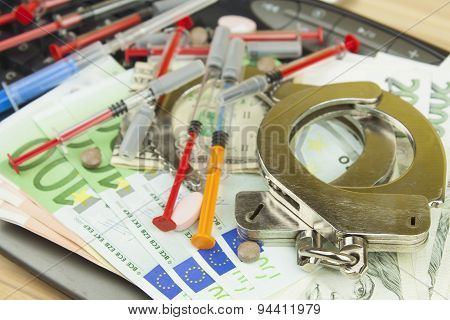 The concept of cybercrime. Illegal sales of medications and drugs over the Internet.