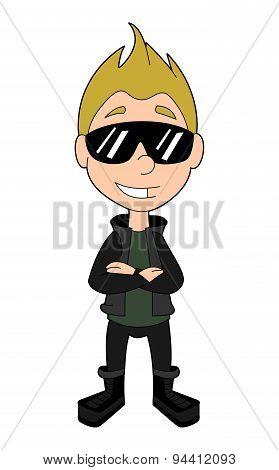 Cool Kid Spy Cartoon