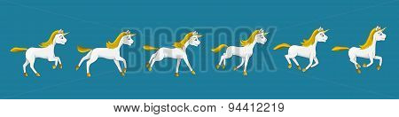 Galloping Unicorn Cartoon