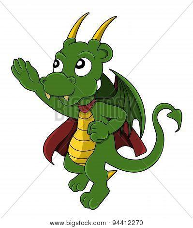 Dragon Superhero Cartoon