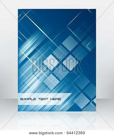 Abstract Vector Background For Flyer, Brochure Or Cover Design