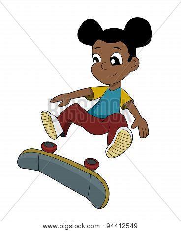 Skater Girl Cartoon
