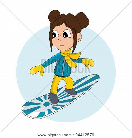 Snowboarder Kid Cartoon