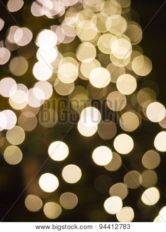 Blurred bokeh Gloden spot  Christmas Holiday